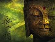 Buddhism Art - Love And Happiness by Joachim G Pinkawa