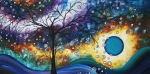 Abstract Tree Prints - Love and Laughter by MADART Print by Megan Duncanson