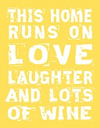 Cellar Digital Art Prints - Love and Lots of Wine Poster Print by Jaime Friedman