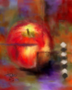 Apples Mixed Media - Love At First Bite by Colleen Taylor