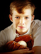 Folk Art Photos - Love Baseball by Lj Lambert