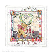 Shower Gift Posters - Love Bears Poster by Debbie Kingston Baker