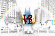 Love Park Framed Prints - Love Framed Print by Bill Cannon