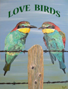 Greetings Card - Love Birds by Eric Kempson