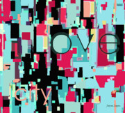 Bright Decor Posters - Love City Poster by Jayne Logan Intveld