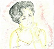 Elizabeth Taylor Drawings - Love Dont Love Nobody by Beverly Howell