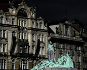 Historic Statue Prints - Love each other and wish the truth to everyone - Jan Hus Prague Print by Christine Till