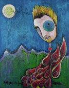 Chris Andersen Paintings - Love for Birdman by Laurie Maves