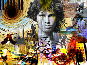 Jim Morrison Prints - Love For Music Print by Lee Bennett