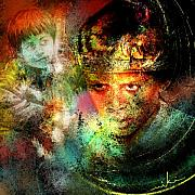 Portraits Mixed Media - Love for The Boy King by Miki De Goodaboom