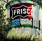 Austin Mixed Media Acrylic Prints - Love Frisco Acrylic Print by Diana Moya