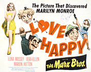 Marx Framed Prints - Love Happy, Marilyn Monroe, Marion Framed Print by Everett