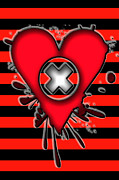 Emo Digital Art - Love Heart 4 of 6 by Roseanne Jones