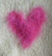 Pink Tapestries - Textiles Posters - Love Heart  Poster by Heather Hennick