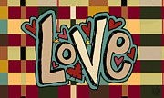 Pleasant Mixed Media Posters - Love II Poster by Jennifer Heath Henry