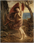Fantasy Paintings - Love in Autumn by Simeon Solomon