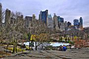Cityscapes Prints - Love in Central Park Print by Randy Aveille