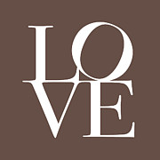 Type Posters - Love in Chocolate Poster by Michael Tompsett