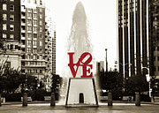 Love Park Digital Art Framed Prints - Love in Philadelphia Framed Print by Bill Cannon