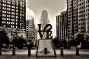 Philadelphia Metal Prints - Love in Sepia Metal Print by Bill Cannon