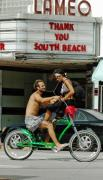 Friendly Digital Art - Love in South Beach by Anahi DeCanio