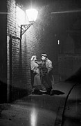 People. Talking Posters - Love In Southwark Poster by Bert Hardy
