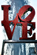 """love Park Philadelphia""  Prints - Love in the Afternoon Print by Bill Cannon"