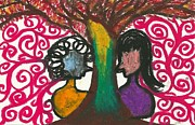 Love In The Tree's Explostion Print by Ivy T Flanders