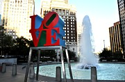 Love Statue Prints - Love Is ..... A Four Letter Word Print by Bill Cannon