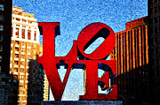 Philadelphia Photo Prints - Love Is Print by Bill Cannon