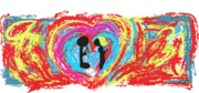 Love Mixed Media Originals - Love is Blind... by Oscar  Servin