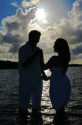 Engagement Photo Prints - Love is Shining Through Print by Joseph Williams