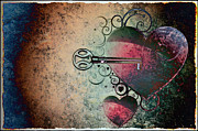 Hearts Digital Art - Love Is the Key by Bill Cannon