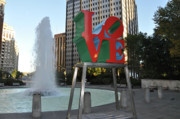 Love Park Framed Prints - Love is the Word Framed Print by Bill Cannon
