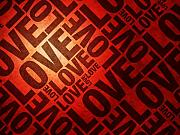 Words Posters - Love Letters Poster by Michael Tompsett