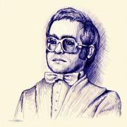 Elton John Art - Love Lies Bleeding by Cristopher