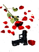 Guns And Roses Prints - Love Lost Print by Emily Stauring