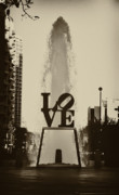 Love Park Prints - Love Love Love Print by Bill Cannon