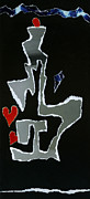  With Acrylics Mixed Media - Love Maker by Kenneth James