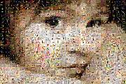 Photomosaic Prints - Love Me Print by Gilberto Viciedo