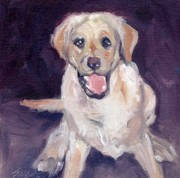 Labrador Retriever Paintings - Love Me by Sheila Wedegis