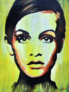 Twiggy Mixed Media Framed Prints - Love me Twiggy Framed Print by Brad Jensen