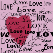 Word Art Digital Art Prints - Love Print by Monique Morales