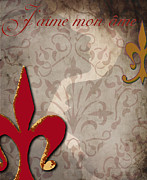 Fleur De Lis Art - Love My Soul by Greg Sharpe
