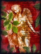 Bible Mixed Media Framed Prints - Love Never Fails 3 Framed Print by Angelina Vick