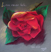Red Rose Pastels - Love Never Fails by Dominique Eichi