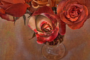 Textured Floral Prints - Love Offering Print by Bonnie Bruno