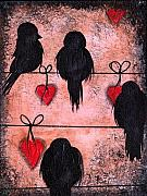 Abril Andrade Griffith Art - Love on a Wire by  Abril Andrade Griffith