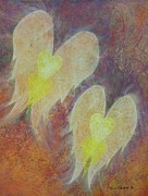 Angels Pastels Prints - Love On Angels Wings Print by Richard Van Order