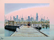 Boast Prints - Love on the Pier Print by Karen Lewis